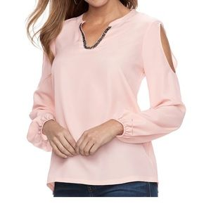 Women's Juicy Couture Embellished Notch Neck Top